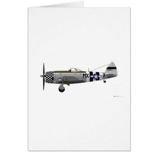 Republic P-47D Thunderbolt Greeting Card