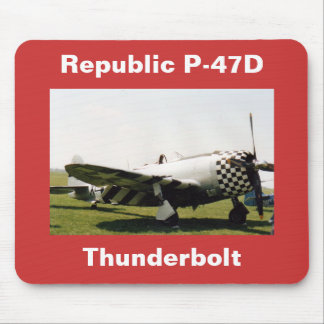 Republic P-47D Thunderbolt Mouse Pad