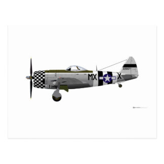 Republic P-47D Thunderbolt Postcard