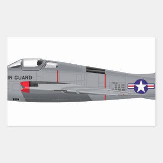 Republic RF-84F Thunder Flash Rectangular Sticker