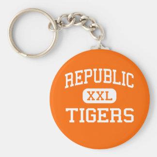Republic - Tigers - High - Republic Missouri Key Chain