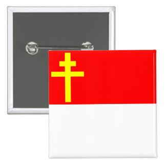 República bandera de la Alsacia-Lorena, Francia Pin Cuadrado