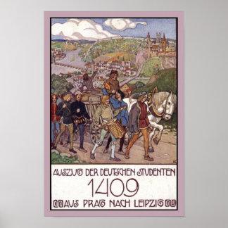 República Checa 1409 de Praga Poster