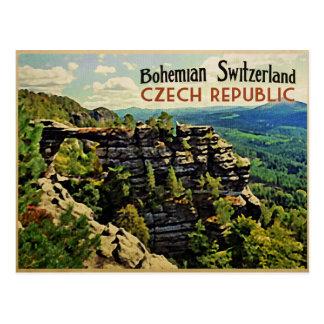 República Checa bohemia de Suiza Tarjeta Postal