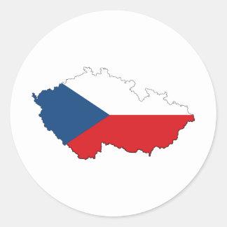 República Checa CZ Pegatina Redonda
