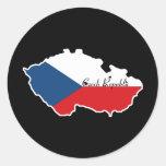 República Checa fresca Etiquetas Redondas