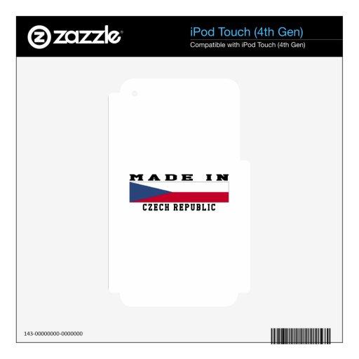 República Checa hecha en diseños iPod Touch 4G Calcomanía