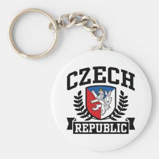 República Checa Llavero Redondo Tipo Pin