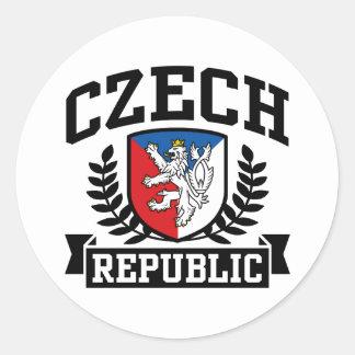 República Checa Etiqueta Redonda