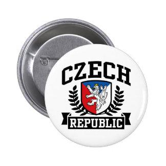 República Checa Pin Redondo 5 Cm
