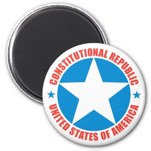República constitucional imán de nevera