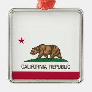 República de California (bandera del estado) Ornamento Para Arbol De Navidad