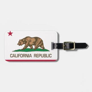 República de California bandera del estado Etiqueta Para Equipaje