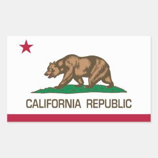 República de California (bandera del estado) Pegatina Rectangular