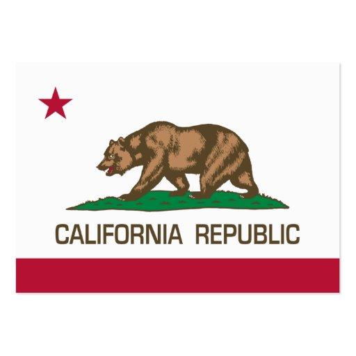 República de California (bandera del estado) Plantilla De Tarjeta De Visita