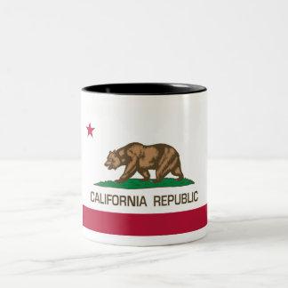República de California (bandera del estado) Taza De Dos Tonos