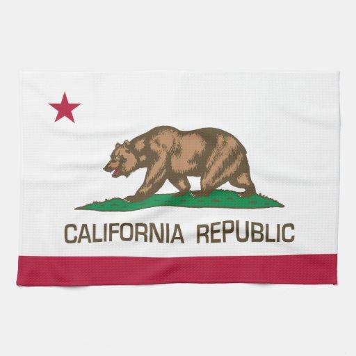República de California (bandera del estado) Toallas De Cocina