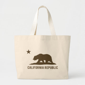 República de California - básica - Brown Bolsa Tela Grande