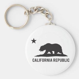 República de California - básica Llavero Redondo Tipo Pin