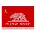 República de California (blanca) Plantillas De Tarjeta De Negocio
