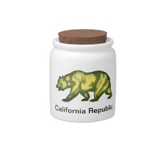 República de California Platos Para Caramelos