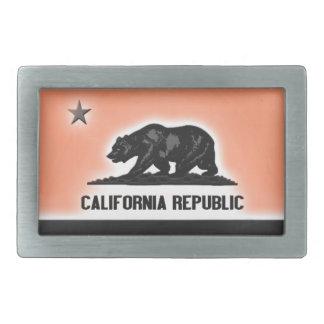 República de California Hebilla Cinturón Rectangular