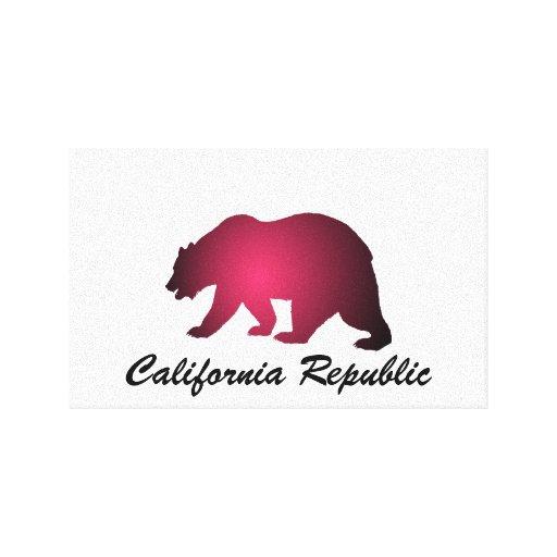 República de California Impresión En Lona