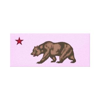 República de California Lienzo Envuelto Para Galerias