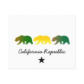 República de California Lienzo Envuelto Para Galerías