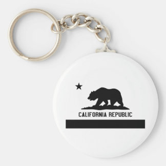 República de California Llavero Redondo Tipo Pin