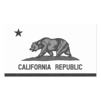 República de California negro Tarjetas De Visita