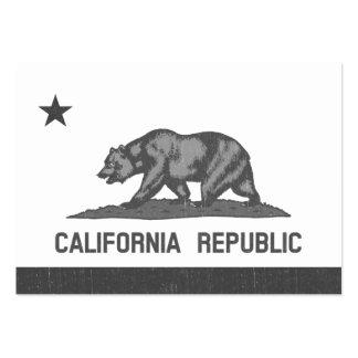 República de California (negro) Tarjetas De Visita Grandes