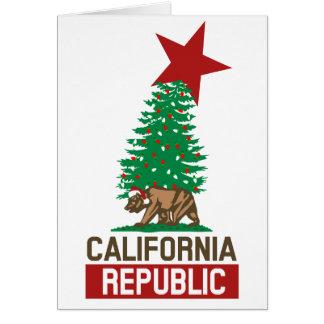República de California para los días de fiesta Felicitacion