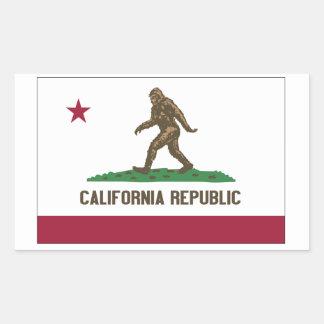 República de California Pegatina Rectangular