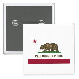 República de California Pin Cuadrado