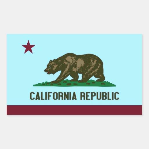 República de California Rectangular Pegatinas