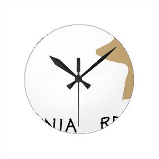 república de California Reloj Redondo Mediano