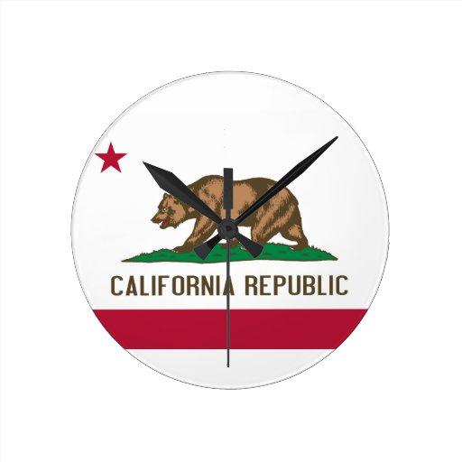 República de California Relojes De Pared