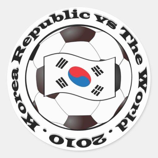 República de Corea contra el mundo Pegatina Redonda
