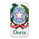 República de Doria de Italia iPhone 4 Protectores