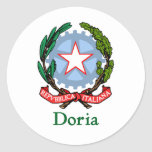 República de Doria de Italia Pegatinas Redondas