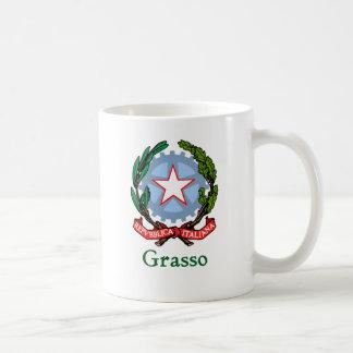 República de Grasso de Italia Taza Básica Blanca