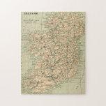 República de Irlanda del mapa de la antigüedad del Rompecabezas Con Fotos