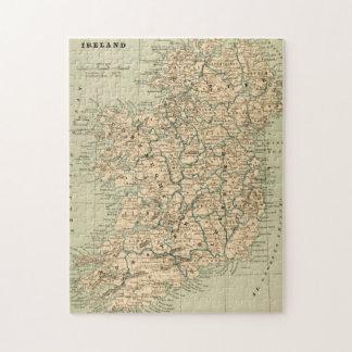 República de Irlanda del mapa de la antigüedad del Rompecabeza