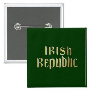 República de Irlanda Pin Cuadrada 5 Cm