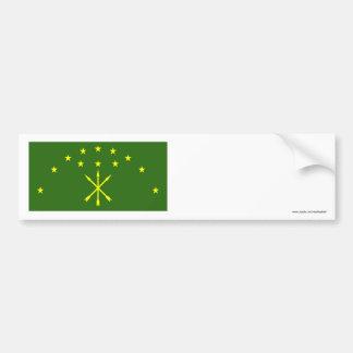 República de la bandera de Adygea Pegatina Para Auto