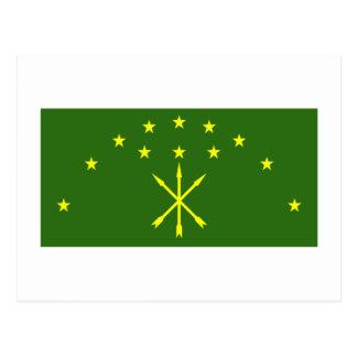 República de la bandera de Adygea Tarjetas Postales