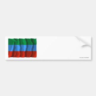 República de la bandera de Daguestán Pegatina Para Auto