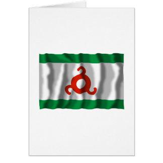 República de la bandera de Ingushetia Tarjetas