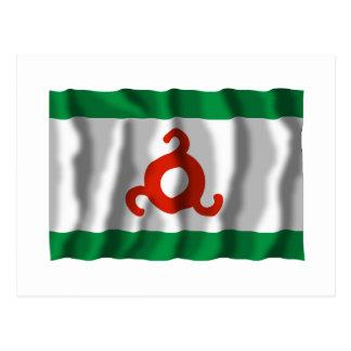 República de la bandera de Ingushetia Tarjetas Postales